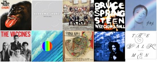 os 10 albuns de 2012