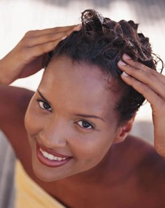 lavagem de cabelos